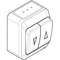 Verhokytkin 4T/16A/250V/IP44 PR 2X valkoinen