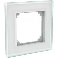 Peitelevy 1-osainen ExxactSolid, lasi, kirkas valkoinen