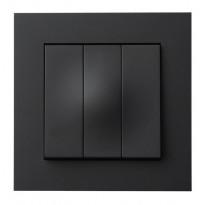 Kytkin ELKO Plus, 3x1/16A/250V/IP20 UPJ, musta
