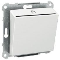 Korttikytkin Exxact 2-napainen LED-merkkivalolla UPR valkoinen
