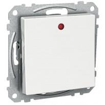 6/1-kytkin Exxct LED-indikoinnilla UKJ valkoinen