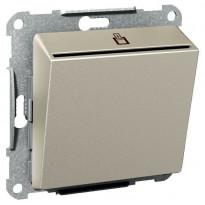 Korttikytkin Exxact 2-napainen LED-merkkivalolla UPR metalli