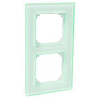 Peitelevy 2-osainen lasi valkoinen ExxactSolid