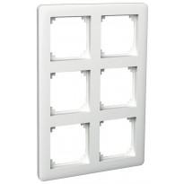 Peitelevy 2x3-matriisikehys valkoinen ExxactPrimo