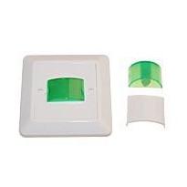 Merkkivalokaluste 12/24V AC/DC 230V vihreä-LED valkoinen