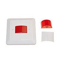 Merkkivalo 12/24V AC/DC 230V punainen-LED valkoinen
