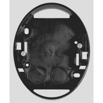 Pinta-asennusrasia 1-osainen kojerasia 2-osainen pistorasia musta