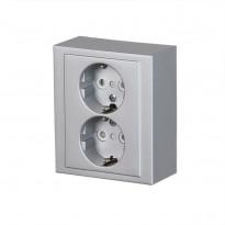 Pistorasia ABB Impressivo - 2S/16A/IP21 PPJ HL alumiini