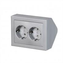 Pistorasia ABB Impressivo - 2S/16A/IP21 PPJ HL alumiini kulma