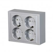 Pistorasia ABB Impressivo - 4S/16A/IP21 PPJ HL alumiini