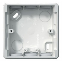 Pintakojerasia 1-osainen IP44 30 mm valkoinen Exxact S-2418004
