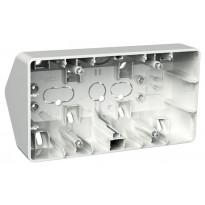Kulmapinta-asennusrasia 2-osainen 21 mm valkoinen Exxact