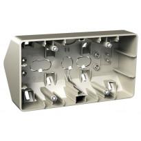 Kulmapinta-asennusrasia 2-osainen IP21 22 mm metalli Exxact