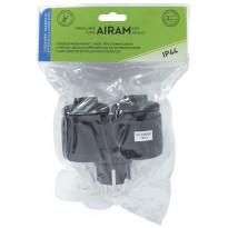 Haaroitin Airam - 2-os.+kansi 16A IP44