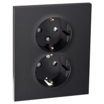 Pistorasia ELKO Plus, 2-osainen 2-vaiheinen/16A/440V/IP20 UPR, musta