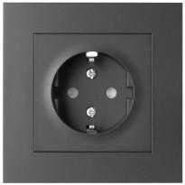 Pistorasia ELKO Plus, 1-osainen/16A/IP20 UPJ, musta