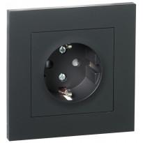 Pistorasia ELKO Plus, 1-osainen/16A/IP20 UPR, musta