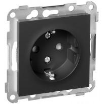 Pistorasia ELKO Plus, 1-osainen/16A/IP20 UKJ, musta