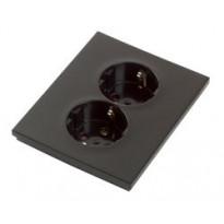 Pistorasia ELKO Plus, 2-osainen/16A/IP20 UPJ, musta