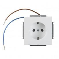 Pistorasia ABB Impressivo - 1S/16A/IP20 UKJ 0X led valkoinen