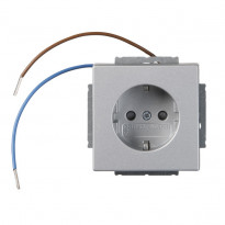 Pistorasia ABB Impressivo - 1S/16A/IP20 UKJ 0X led alumiini