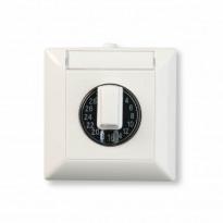 Ajastin Ensto Intro - W110.120A 120m/16A IP44 PP valkoinen