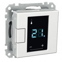 Termostaatti kosketusnäytöllä 5/50 16A 230VAC IP20 USE valkoinen Exxact