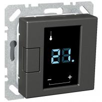 Termostaatti kosketusnäytöllä 5/50 16A 230VAC IP20 USE antrasiitti Exxact