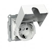 Vikavirtapistorasia kannella 1S/VVS/16A/IP20 UKJ valkoinen Exxact