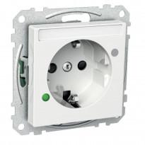 Pistorasia ylijännitesuojalla 1-osainen IP44 UKR valkoinen Exxact