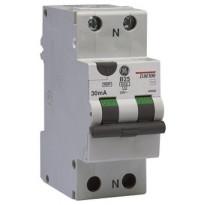 Vikavirtajohdonsuojakatkaisija GE Redline 1P+N DMA100 B6A/30mA yhdistelmä