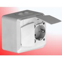 Pinta-asennuskotelo Etherma SUVI 44, vikavirtasuojatulle pistorasialle