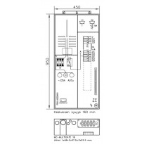 Mökkikeskus UTU Beagle 3406P25+PR+Y 1T, 25A, IP34,