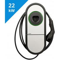 Sähköauton latauslaite Ensto One Home EVH323-HC000, IP54, 3X32A, T2, kiinteällä 5m kaapelilla