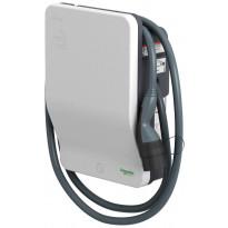 Sähköauton latauslaite Schneider Electric EVlink Wallbox 3,7kW T2 kiinteällä 4m kaapelilla, avainlukitus