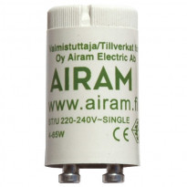 Loistelampun sytytin Airam St/U 4-65 W, 1-kytkentä Ø 21x39 mm