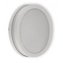 Seinä- ja kattovalaisin Ensto Lumia, AVN260, 60W, Ø260x95mm, E27, IP54, valkoinen