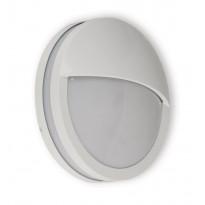 Seinävalaisin Ensto Lumia, AVN260L, 60W, Ø260x95mm, luomella, E27, IP54, valkoinen