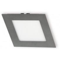 LED-paneeli Ensto Velox ALSD168HNU 168x168x19mm, IP44, 14W 830/840, harmaa, Verkkokaupan poistotuote