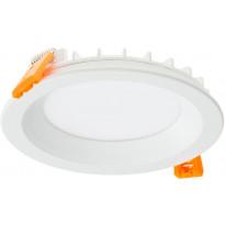 LED-paneeli Ensto Velox Deco ALDD120PU, IP44, 8W/830/840, Ø120mm, valkoinen