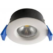 LED-alasvalo Airam Compact, Ø80x38mm, 5W/840, IP65, himmennettävä, valkoinen