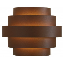 LED-seinävalaisin Nora IP54 190x110x150mm, ruskea