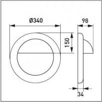 Häikäisysuoja Ensto AVR254 - AVL41 häikäisysuoja valkoinen