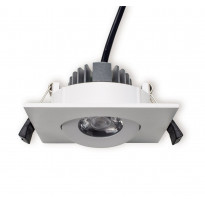 LED-alasvalo Ensto Velox, ALS90NS, 4W/840, 90x90x41mm, IP20, valkoinen