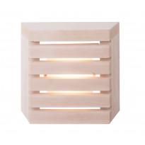 LED-saunavalaisin Airam Saunaled 260TRL, 8W/827, 270x268x66mm, himmennettävä, IP65, tervaleppä