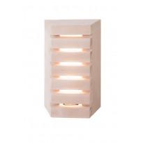 LED-saunavalaisin Airam Saunaled 180TRL, 8W/827, 312x182x66mm, himmennettävä, IP65, tervaleppä