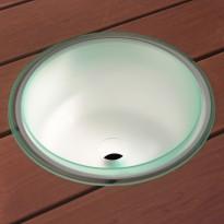 LED-valaistu saunakiulu Cariitti poistoaukolla