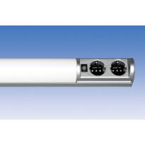 Työpistevalaisin Ali ALH13214 T5 14W, 725mm, 2-osainen, pistorasia + kytkin, harmaa