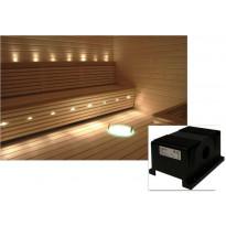 Saunavalaistussarja Cariitti, VPAC-1527-B532, 1-4 m² + LED-projektori + 5 valokuitua