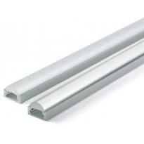 Asennusprofiili Airam Slimline 7 Optinen 60° Apus II LED-nauhalle, pinta-asennus, 1m